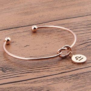 Jewelry - ROSE GOLD ♎️ LIBRA ZODIAC LOVE KNOT BRACELET *NWT*